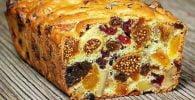 Plum cake de frutas sin gluten