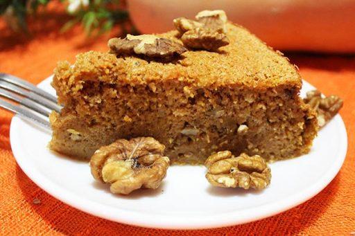 Tarta de calabaza sin gluten, sin azúcar y sin lactosa